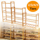 2/3/4/5 Tier Bamboo Shoe Rack Organizer Wooden Storage Bench Shelves Stand Shelf