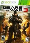 Gears of War 3 (Microsoft Xbox 360, 2011) GAME MATURE 17+