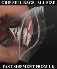 Grip Seal Resealable Clear Plastic bag ALL SIZES IN INCHES One of  Best Quality
