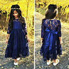 children clothes stores - New Kids Baby Girls Lace Tulle Princess Long Sleeve Dress Party Clothes US Store