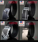 "Mens Leather Belt Click Comfort up to 43"" Dress / Casual Belt Automatic Lock"