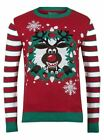 Mens Novelty Christmas Jumper Rudolph The Red Nose Reindeer Xmas Sweater
