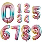 "40"" LARGE FOIL LETTER BALLOONS NUMBER BALLOON FLOAT HELIUM SILVER GOLD BLACK RED"