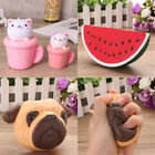 Fruit Slow Raising Squishy Charm Stress Reliever Healing Toy Squeeze Doll Gift