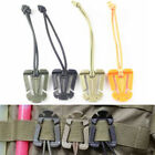 MOLLE Strap Buckle Clip with Elastic Cord Backpack Bag 1 inch Webbing Clamp