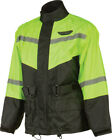 FLY RACING Two-Piece Motorcycle Rain Suit (Black/Hi-Viz Yellow) Choose Size $79.95 USD on eBay
