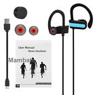 AGPtek Sweatproof Headphones Wireless Bluetooth Sport Earbuds Stereo Headset New