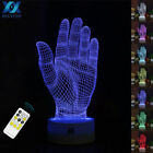 Hand Model 3D Effect Lamp LED Illusion Lamp Desk Night Light Remote Control Gift