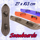 """Plastic Snowboard - 3 Asst Blk/Red/Blue - """"White Out"""""""