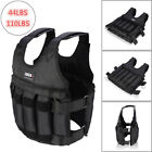 Adjustable Weighted Vest Jacket Workout Weight Exercise Fitness Training Waist