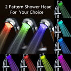 Colorful LED Automatic Changing Light Handheld Shower Head Water Saving Bathroom