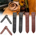 20mm Black/Brown Soft Leather Watch Band For CAR TIER SANTOS 100 With Buckle Pin