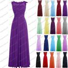 Long Chiffon Lace Evening Formal Party Ball Gown Prom Bridesmaid Dress 6-22 New