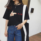 Korean Style Fashion Women/Girl Summer Blouses Short Sleeve Casual Heart Tops