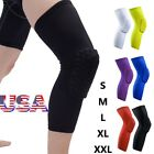 Honeycomb Knee Pad Basketball Crashproof Antislip Leg Long Sleeve Protector Gear