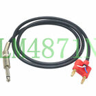 """DIY Speaker Audio wire Dual Banana Plug to 6.35 1/4"""" male Canare L2T2S Adapter"""