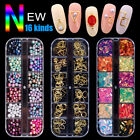 3D Nail Art Rhinestones Glitters Beads Acrylic Sequins Decoration Tips Manicure