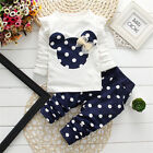 Toddler Kid Baby Girls Autumn Outfits Clothes Minnie T-shirt Tops+Pants 2PCS Set