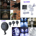 fences for yards - LOT 1-10 pcs Solar Powered Light 3/12 LEDS Waterproof for Garden Fence Yard Wall