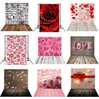 5X7ft Valentine's Day Backdrop Retro Wood Photography Love Background Photo Gift