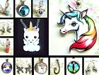 DRAGON UNICORN PEGASUS EARRINGS NECKLACE KEYRING CUTE RAINBOW