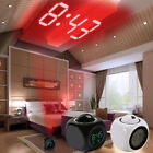 Digital Alarm Clock LED Projection Temperature Multifunction With Voice Talking