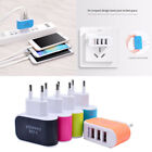EU/US Plug 3.1A Wall Charging Adapter For Samsung iPhone HTC Nokia LG 3 USB Port