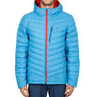 Salomon Mens Halo Down Hooded Jacket Top Blue Sports Outdoors Full Zip Warm