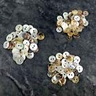 50 x Mother of Pearl buttons Ivory / Neutral mix 8/9/10 mm Craft Scrapbook B57