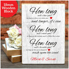How Long Will I Love You PERSONALISED Valentines Gifts Him Her Wooden Blocks