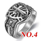 Mens Women's Stainless Steel Celtic Wedding Band Signet Biker Motorcycle Rings