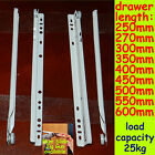 1 set (4pcs) 250-600mm White Roller Draw...