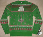 "NEW MENS ""STAR WARS MOVIE LOGO GREEN"" UGLY CHRISTMAS HOLIDAY PARTY TACKY SWEATER"