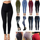 Womens High Waist Slim Stretch Jeans Denim Skinny Ripped Pencil Pants Trousers