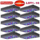 LOT 1-10PACK 165W 55LED Full Spectrum Dimmable  Fish Aquarium Tank Light US  OY