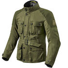 Rev'it Zircon Dark Green Wax Cotton Motorcycle Jacket NEW RRP £299.99!