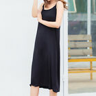 Women Modal Full Slip Underskirt Sleeveless Dress Petticoat Camisole Soft
