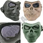Skeleton full face airsoft safety mask metal mesh eye protection skirmish sports