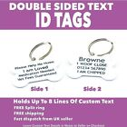 Custom Metal PET ID TAGS-DOG Tag-Double Sided-Room For Lots of Personalised Text