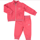 Nike Infant Girls Full Zip Tracksuit Children baby Jogging Suit - Pink