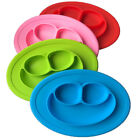Mini Silicone Child Placemat and Plate Baby Feeding Mat Fits Most Highchair Tray