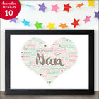 PERSONALISED Mothers Day Gifts for Nanny Nan Granny Grandma Birthday Presents