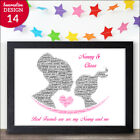 PERSONALISED Nanny Granny Nan and Granddaughter Birthday Christmas Poem Gifts
