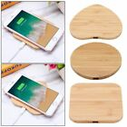 Wireless Qi Charger Bamboo Wood Mat Pad For Apple iPhone8/8 Plus iPhoneX S7 S8