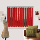 Blackout Bright Red Made To Measure Vertical Blind - Best Price - Full Blind