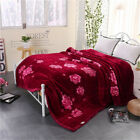 """Upscale Thick warm throws flat sheet soft blankets quilt 11 lb 90"""" X 78"""" gift"""