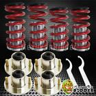 For Civic 88-00 CRX Del Sol Integra 90-01 Aluminum Coilover & Top Hat Kit RD /PO