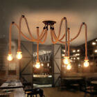 Industrial Hemp Rope Chandelier Restaurant Bar Shop Decoration Pendant Lights
