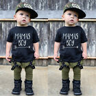 UK Toddler Kid Baby Boys Cotton T-shirt Tops Long Pants Outfit Clothes Tracksuit