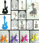 MUSIC NOTES INSTRUMENTS KEYRING NECKLACE EARRINGS KITSCH KAWAII 80'S